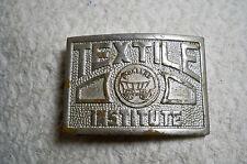 Vintage Men's Belt Buckle Textile Pioneers Institute Rare