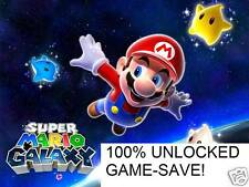 GAME-SAVE on SD CARD for Super Mario Galaxy 100% cheat file Nintendo Wii