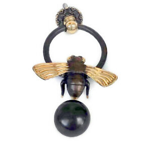 small Solid Brass heavy BEE bumble Door Knocker 10 cm high 8 cm wide bolt pull B