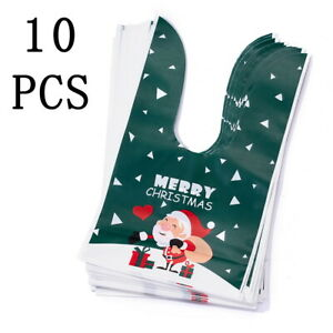 10PCS Christmas Gift Pouch EVA Gifts Bag Pack Santa Claus Tree Elk Pattern Lot