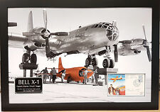 CHUCK YEAGER Signed 31x22 Photo Display BELL X-1 Pilot COA