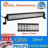 22inch 120W Philips Led Light Bar Spot&Flood Combo Driving Offroad 4WD Jeep Slim