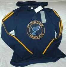 St. Louis Blues Adidas hooded training shirt WOMEN'S SMALL NEW with tags NHL
