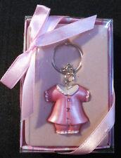 "Lot of 12 ""Girl"" Pink Coat Key Chain Favors Lunaura Keepsake Baby Shower Gifts"