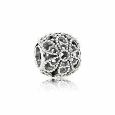 original PANDORA Charm Element 791282 Offene Rose Silber Schmuck Beads NEU