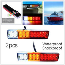 2pcs 12V 20LED Car Trailer Tail Lights Turn Signal Brake Rear Lamp Boat,Caravans