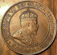 1909 CANADA LARGE CENT LARGE 1 CENT PENNY GREAT EXAMPLE