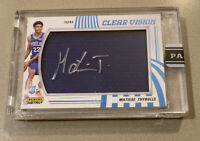 🚀📈2019 20 PANINI INSTANT CLEAR VISION MATISSE THYBULLE ON CARD AUTO #5/10