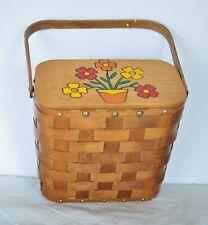 New ListingVintage 1970's Wooden Basket Purse Handbag