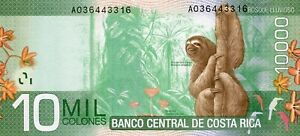 2009 COSTA RICA 10 MIL COLONES GEM BU BANKNOTE W/ ORCHIDS!!..STARTS@ 2.99