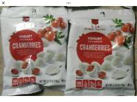 2  Natural Cravings Vanilla Yogurt Covered Dried Cranberries (2) 2.75 oz Bags