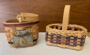 Lot Of 2 Vintage Baskets