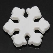 Lot 20 Perle Flocon de neige 12mm Acrylique Couler Blanc creation Bijoux collier