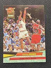 1992-93 Fleer Ultra Harold Miner Rookie Card #293 with Michael Jordan -VERY GOOD