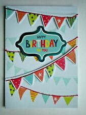 "PAPER MAGIC ~ GLITTERY ""HAPPY BIRTHDAY TO YOU"" BANNER GREETING CARD + ENVELOPE"