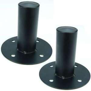 2x Boxenflansch Stahl schwarz - PA Boxen Flansch Einbauflansch für 35 mm Stative
