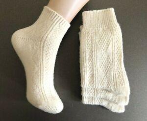 100% Natural Pure Lambswool Knitted Ladies Wool Warm Winter Thermal Walking