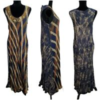 India Boutique Free Size Boho Sequined Emboidered Striped Navy Cream Maxi Dress