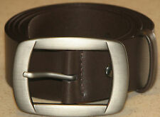 New Mens Brown Leather Belt Size 38  -  96cm     (B70)