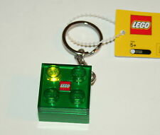 Lego Flashing Key chain LEDkey Light Green Block NOS New Box 2010