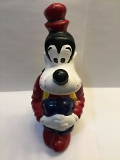"Vintage Walt Disney Goofy Ceramic Figurine 9"" Tall Collectible Statue Rare Color"