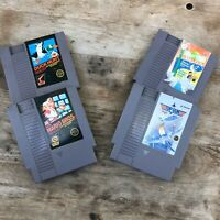 Nintendo NES Game Lot, Super Mario Bro Duck Hunt Top Gun Sesame Street -UNTESTED