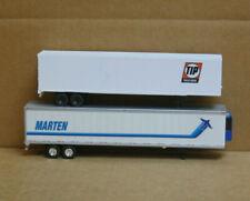 Walthers/Ton HO Trailers, 1 48' Tip Trailer Rental & 1 53' Marten w/Reefer