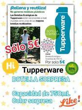 Botella 750 ML. Tupperware. TAPÓN ROSCA O BOQUILLA.