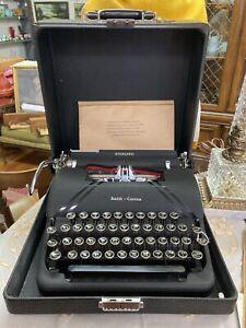 Vtg 1946 Smith-Corona Sterling Typewriter w/Floating Shift *Barely Used!*