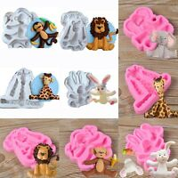 3D Animal Silicone Fondant Chocolate Mould Cake Decor Cookie Sugarcraft Mold New