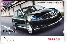 ASIE  TELECARTE / PHONECARD .. JAPON 1000Y QUO TAMURA AUTO CAR NISSAN FUGA