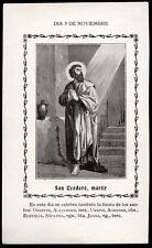 "santino-holy card""S.TEODORO M."