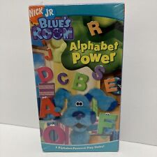 Blue's Clues Blue's Room Alphabet Power VHS Nick Jr. Sealed Ready IGS Grading