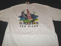 SAN DIEGO California - Nautical Yachting Boating - White T-Shirt New! NWT MEDIUM