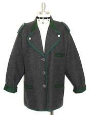 """LODENFREY BOILED WOOL Sweater JACKET Women Winter BLACK ~ WARM Coat B44"""" 14 L"""