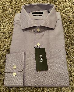 NEW Hugo Boss Mark Black Label Sharp Fit Dress Shirt Purple Choose Size NWT