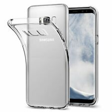 Samsung Galaxy S8 S8+ Plus Hülle Silikon Case Transparent Handy Tasche Cover