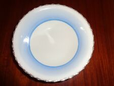 J & G Meakin Sol Dessert Bowl Blue White With Gold Edge
