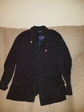 RALPH LAUREN - Mens military jacket with badges - Black - Medium new