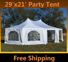 29'x21' Decagonal Wedding Party Gazebo Tent Canopy - White