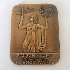 Bausch Lomb Honorary Science Award Vintage Trophy Medal Blank Orig Box