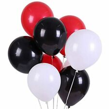 Latex Balloon 100 Pcs 12 Inch White And Black Red Balloons Health &amp Personal