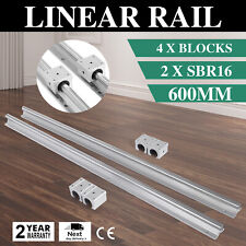 SBR16-600 mm 2 x Linear Rail 4 x Bearing Block smooth sliding Routers Unique