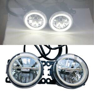 Pair LED Fog Light Lamp Fit for Ford Focus Transit Mustang Fiesta Honda Subaru