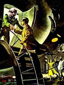 SCI FI ILLUSTRATION ALIEN SPACE UFO NEW FINE ART PRINT POSTER CC4224