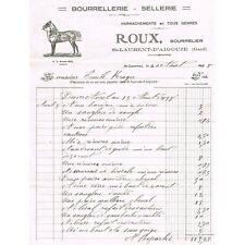 ROUX St Laurent d'Aigouze Bourrelier Sellerie Harnachements à Émile KRUGER 1938