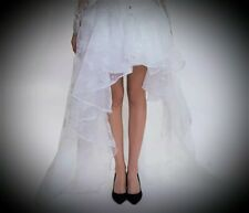 New White Gothic Tulle High Low Bustle Burlesque Steampunk Skirt size 5XL 22 24