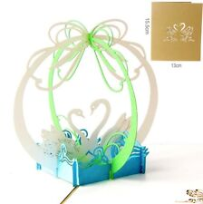 3D Pop Up Card Swan Gift Creative New Hot Romantic Love Greeting Cards