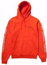 Matix NO WRONG TURNS Mens Pullover Hoodie Sweatshirt Size Small Orange NEW 2017