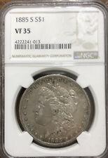 1885-S Morgan Silver Dollar NGC VF 35